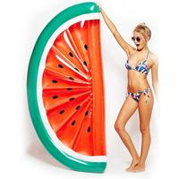 180cm Inflatable Giant Pool Float Mattress Toys Semi Circular Watermelon Floating Raft Floating Bed Swimming Ring Life Buoy