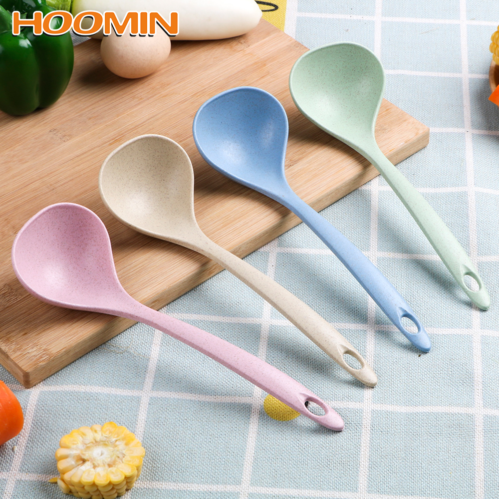 Wheat Straw Soup Spoons Ladle Tableware Meal Dinner Stalk Spoon Kitchen Supplies