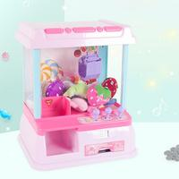 Coin Operated Games Children's Mini Catch Doll Machine Carnival Style Vending Arcade Claw Candy Doll Game Kid Toy Birthday Gift