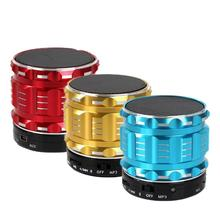 Bluetooth Speaker Metal Wireless Mini Smart Portable Audio Subwoofer For Mobile Phones Tablets PC Outdoor Home Support TF U Disk недорого