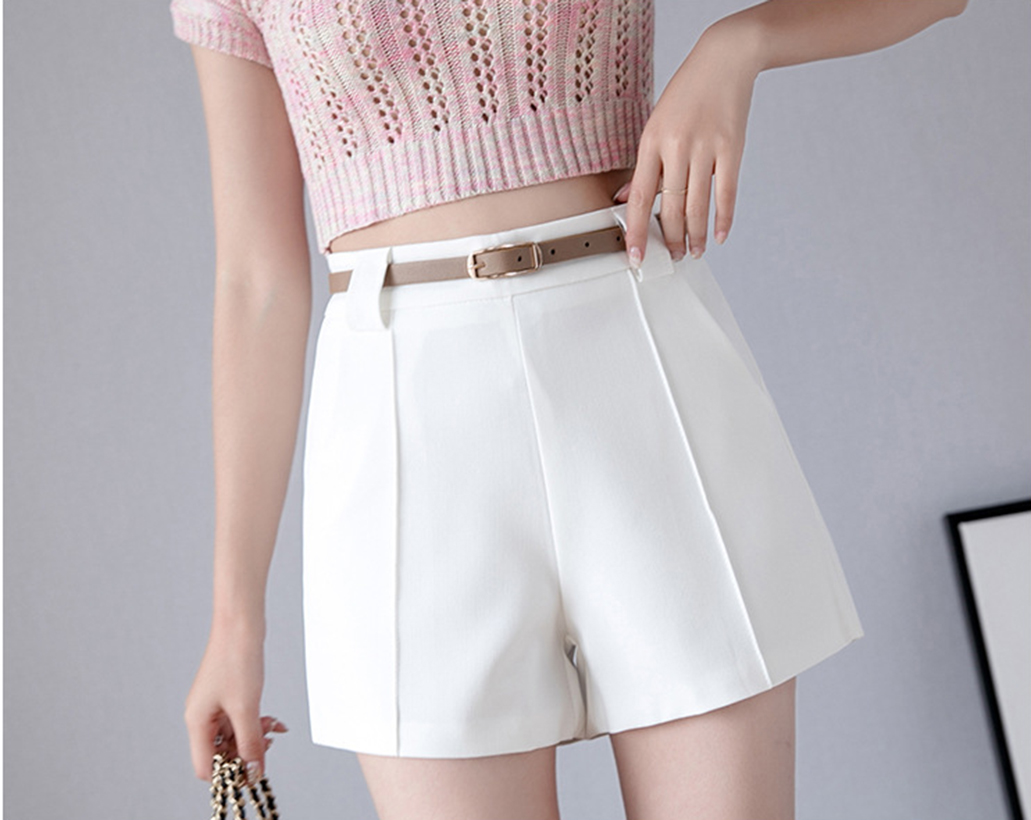 Spring and summer new style Korean version of wild fashion shorts Loose high waist suit casual shorts