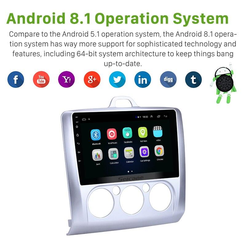 Seicane Android 8,1 ROM 32 ГБ HIFI 9