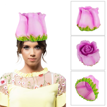 Carnival Party Hat Creative Cute Funny Decorative Rose Flower Cosplay Hat Costume Headwear Masquerade Dress Up Props 1