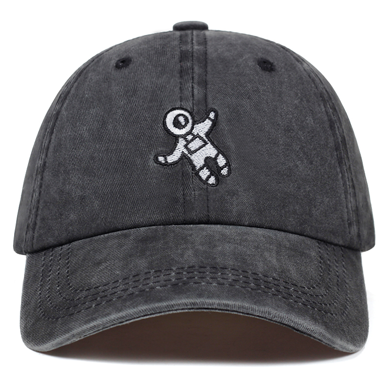 2019 new Washed spaceman embroidery   baseball     cap   available unisex fashion dad hats adjustable cotton snapback hats casual   caps