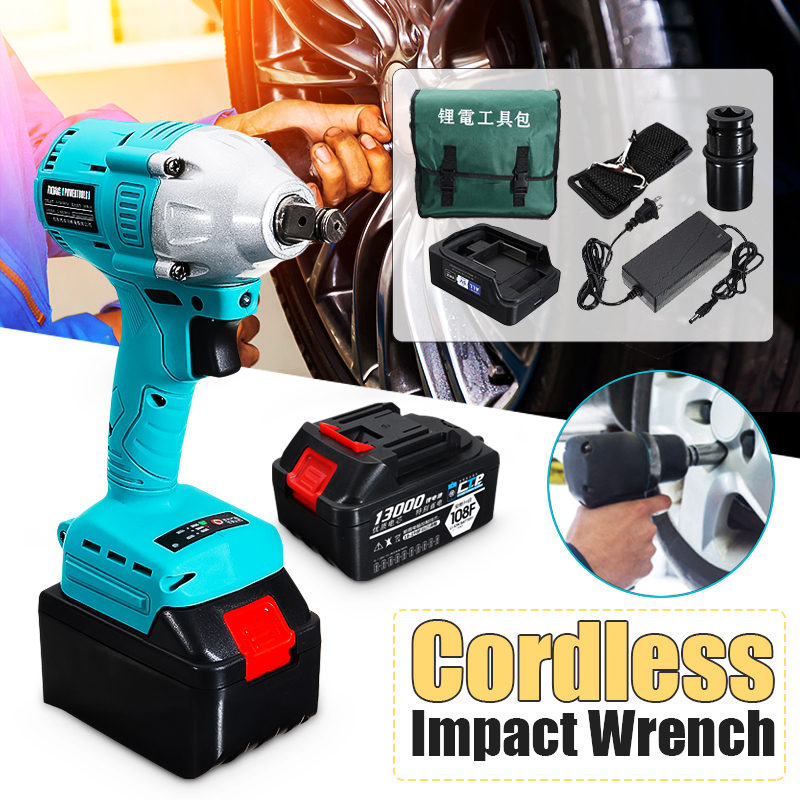 340Nm 13000-30000mah Brushless Electric Impact Wrench Cordless Rechargeable Lithium Battery Hand Drill Installation Power Tool tenwa20v brushless electric impact wrench cordless rechargeable lithium battery socket impact digital electric wrench
