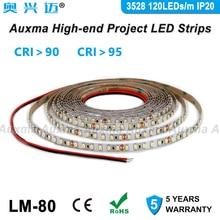 цена на 3528 120LEDs/m LED Strip, CRI95 CRI90 IP20,DC12V/24V 9.6W/m 600LEDs/Reel,Non-waterproof,for indoor living room bedroom hotel