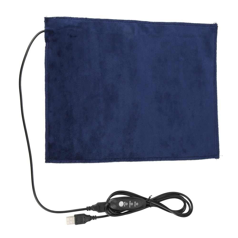 24x30 см 5V2A USB электрическая тканевая грелка нагревательный элемент для одежды обогреватель для домашних животных 45 градусов