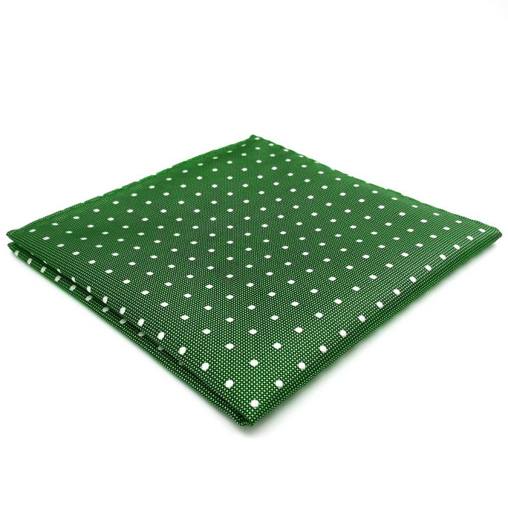 """EH21 Dots Green Pocket Square for Mens Suit Business 12.6"""" Fashion Accessory Hanky 12.6"""""""