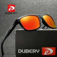 DUBERY Polarized Sunglasses for Men Women New Fashion Square Vintage Sun Glasses Sport Driving Retro Mirror Luxury Brand UV400