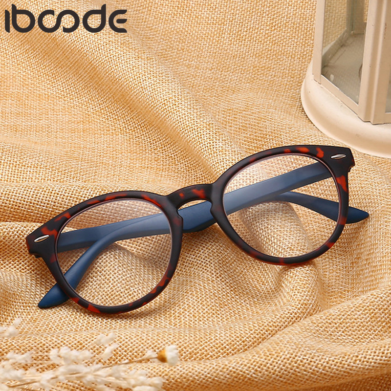 Iboode 1PC Brand Top Rice Nail PC Full Frame Reading Glasses Unisex HD Spring Foot Wire +1.00 +1.50 +2.00 +2.50 +3.00 +3.50 +4.0
