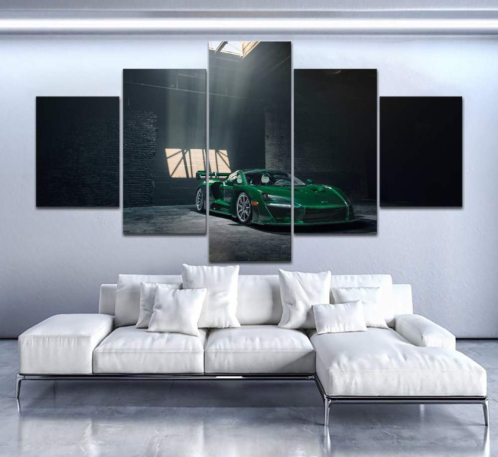 5-piece-canvas-print-type-painting-for-modern-living-room-or-bedroom-wall-decorative-vehicles-green-mclaren-font-b-senna-b-font-gtr-picture