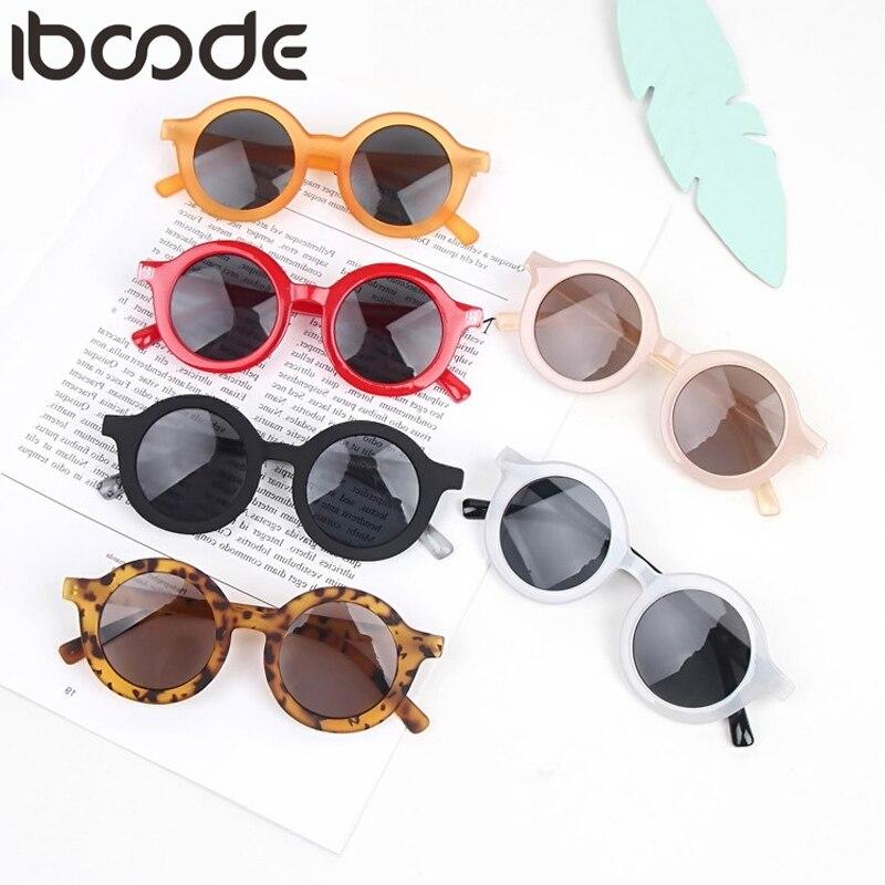 iboode 2020 Fashion Kids Sunglasses Round Frame Boys Girls Sun Glasses Children Baby Eyeglasses UV400 Shades Oculos Gafas De Sol