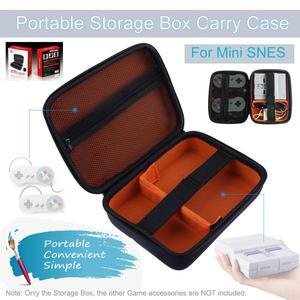 Image 4 - ポータブル保護収納ボックススーパーファミコン用ミニコンソール旅行ポーチバッグnintendスーパーファミコンミニ保護高品質