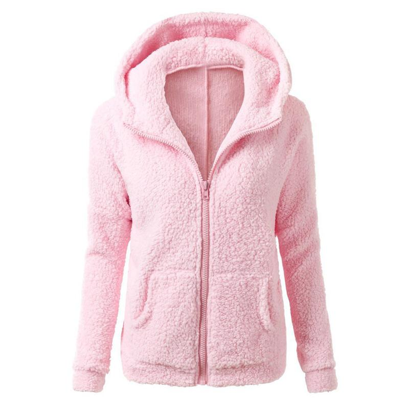 50% Sale 2018 Women Winter Fleece   Jacket   Womens Thicken Warm Coat Female Windproof Polar Fleece   Basic     Jacket   Plus Size M-5XL