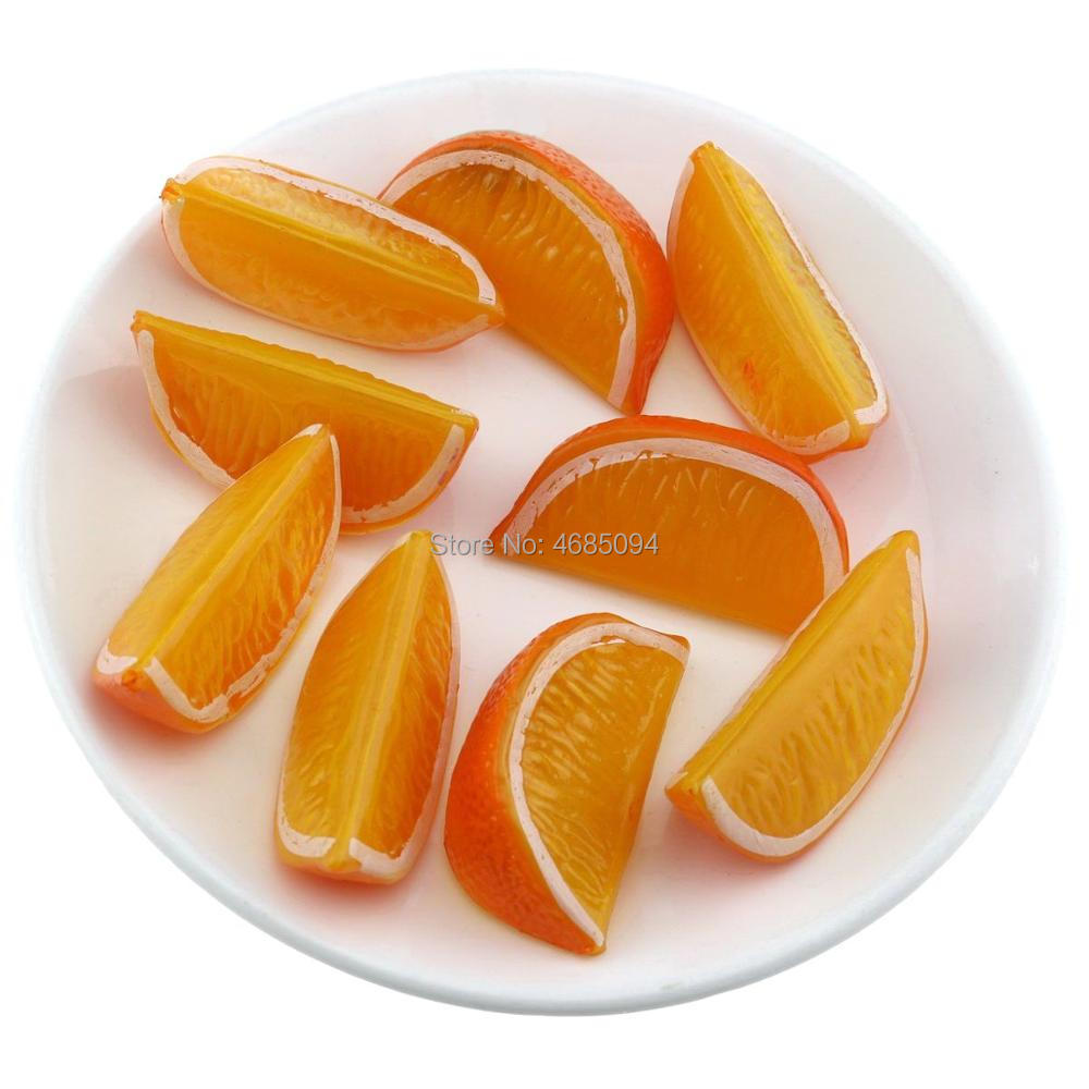 Gresorth 9 PCS Artificial Orange Lemon Slice Fake Fruits Slices Home Table Cabinet Decoration