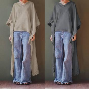 edbd908d4 Celmia Verano de 2019 las mujeres Casual camisas de manga larga ...