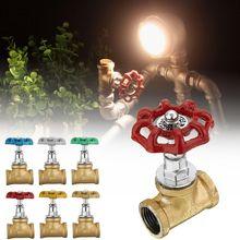 Промышленный светильник, запорный клапан, светильник для лампы в стиле лофт, железный клапан, Винтажная настольная лампа, водопровод, светильник ing