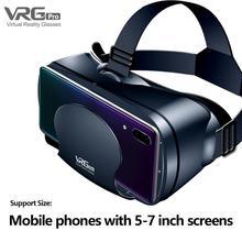 새로운 3D VR 안경 가상 현실 120 광각 렌즈 프로 버전 3d 고글 헤드셋 5 7 인치 스마트 휴대 전화