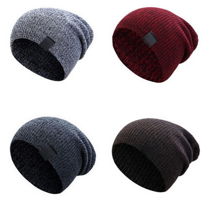 100% Wahr 2019 Neueste Heiße Unisex Männer Frauen Mode Baumwolle Knit Baggy Beanie Oversize Winter Hut Ski Slouchy Chic Kappe Braun Grau Schrecklicher Wert