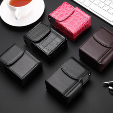 Cigarette Box Lighter Holder Tobacco PU Leather Nice Gift Sm