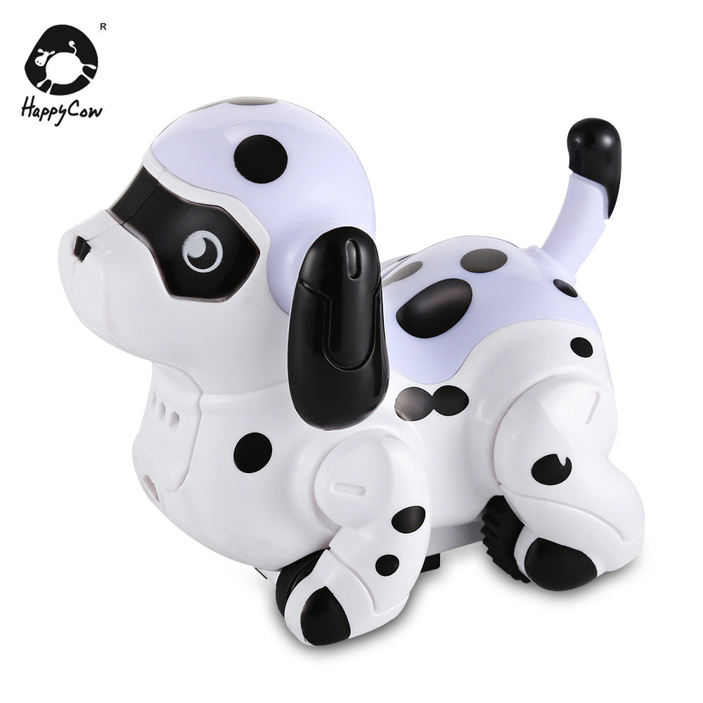 HAPPYCOW No.777-614 Electronic Pet Dog Tracking Pen Line Induction Change Color Electronic Pet Funny Dog Sounding Pets Toy Gifts