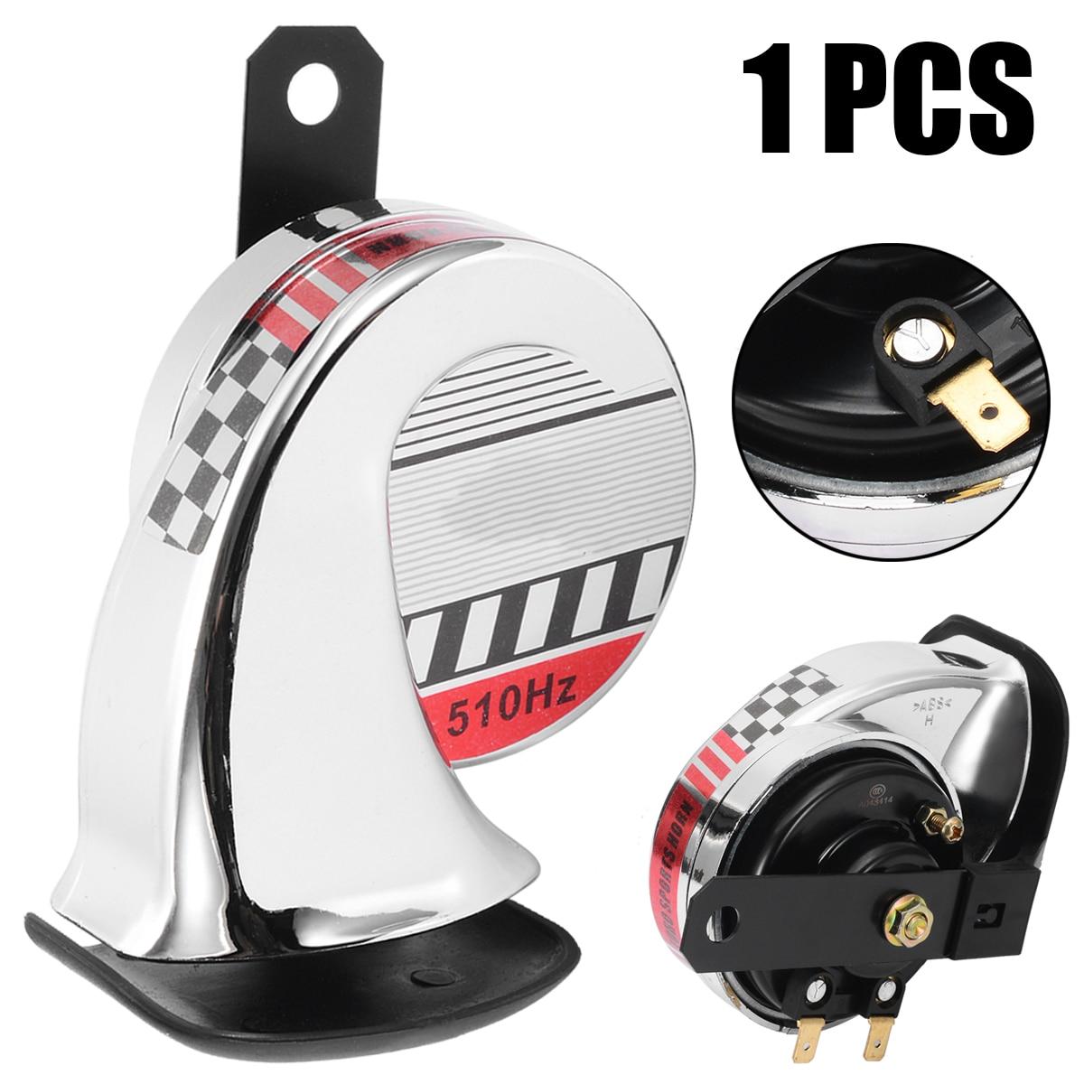 Mayitr Motorrad Schnecke Horn Leistungsstarke 12 v 40 watt Chrom Sound Sport Horn Universal für Motorrad Schnecke Typ Horn