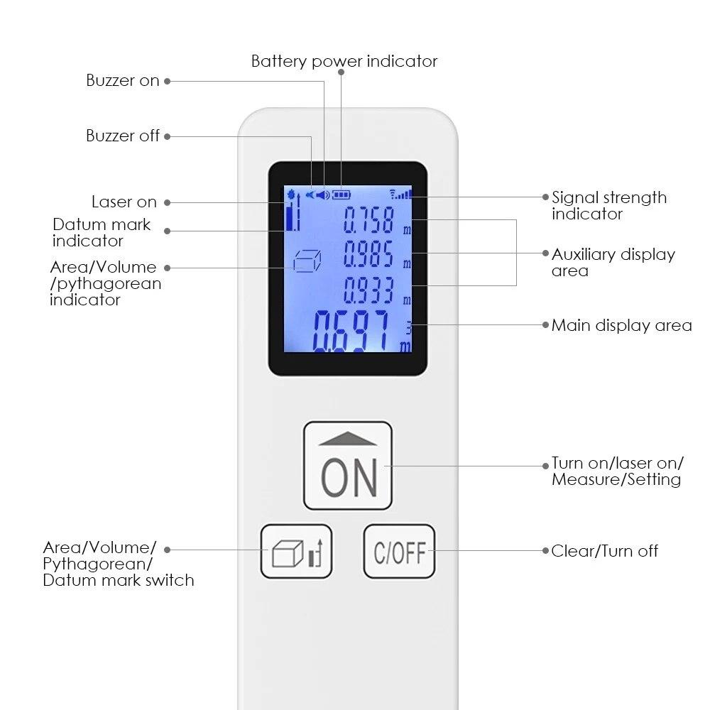 D35 35 M Mini Handheld Laser-distanzmessgerät Digitalen Laser-entfernungsmesser Fläche Volumen Messung