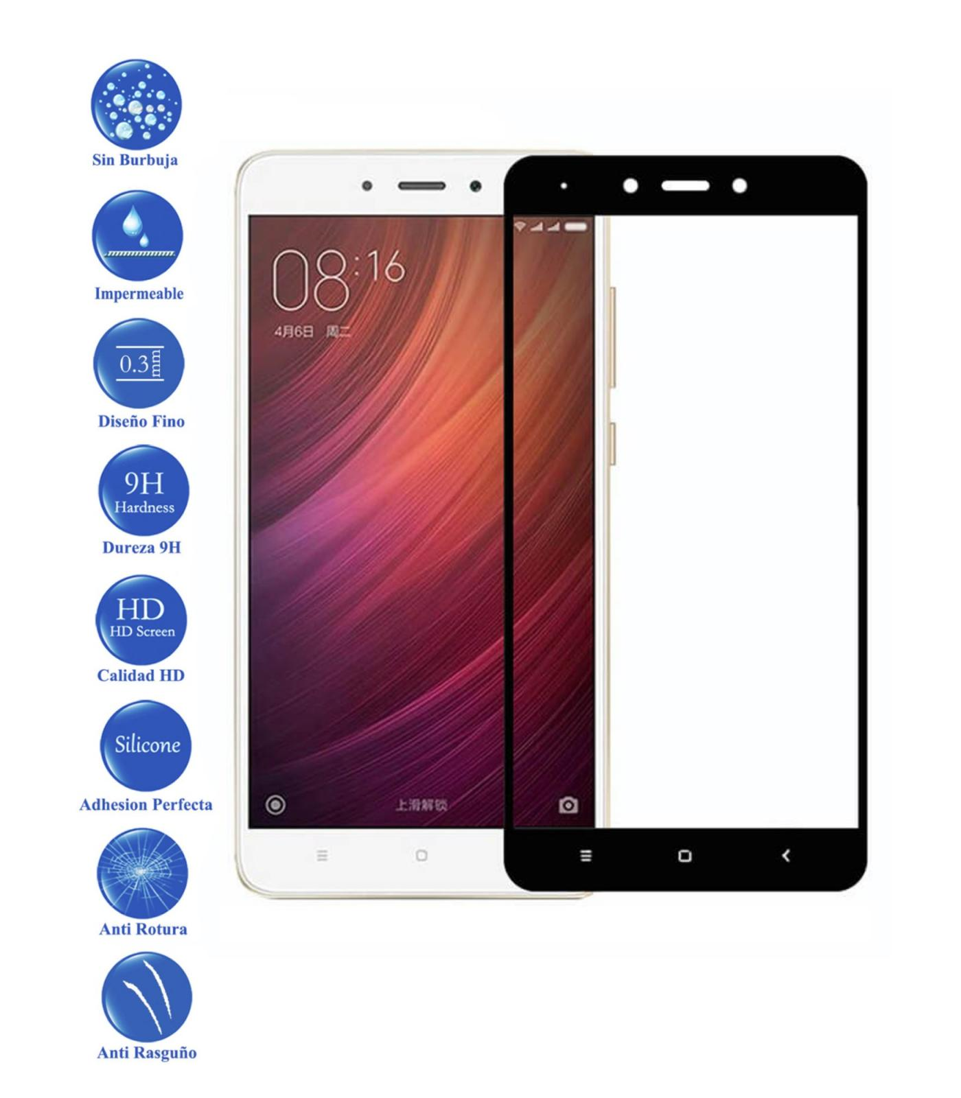 Full Toughened Glass LCD Cover Screen Protector For Xiaomi Note Redmi 4X Black