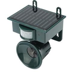 Ultrasonic PIR Outdoor Solar Animal Bird Dog Fox Repeller Repellent Scarer
