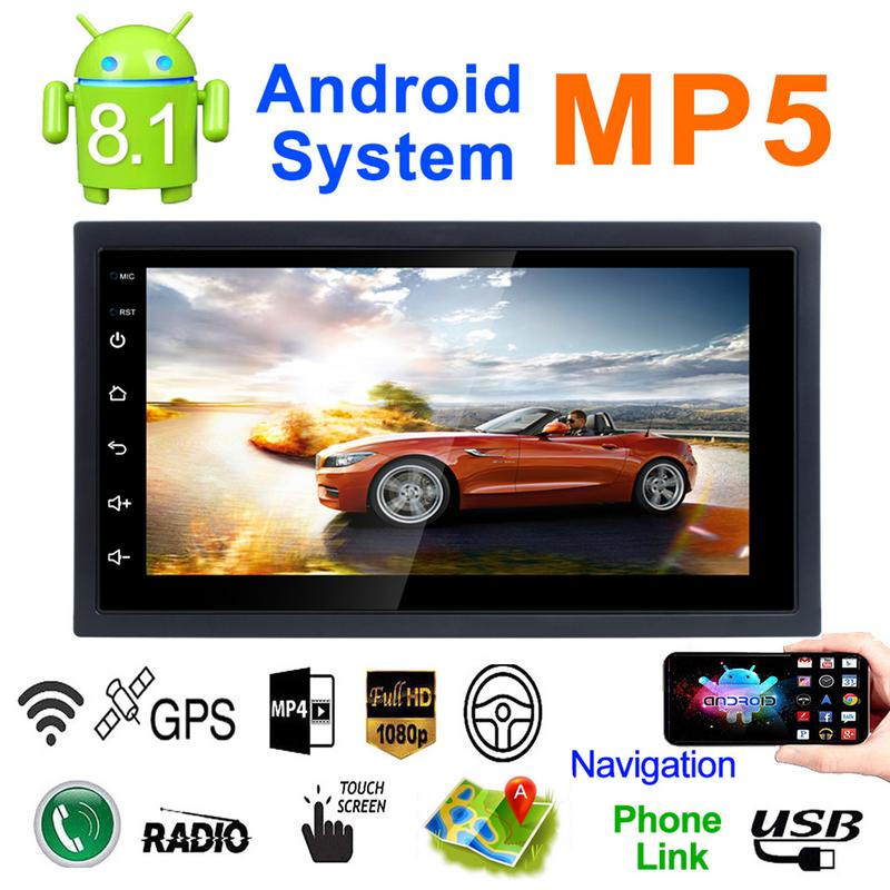 2DIN Android 8.1 Car Radio Stereo Multimedia Play GPS Navigation Wifi Bluetooth USB Autoradio FM Audio Camera Car MP5 Player