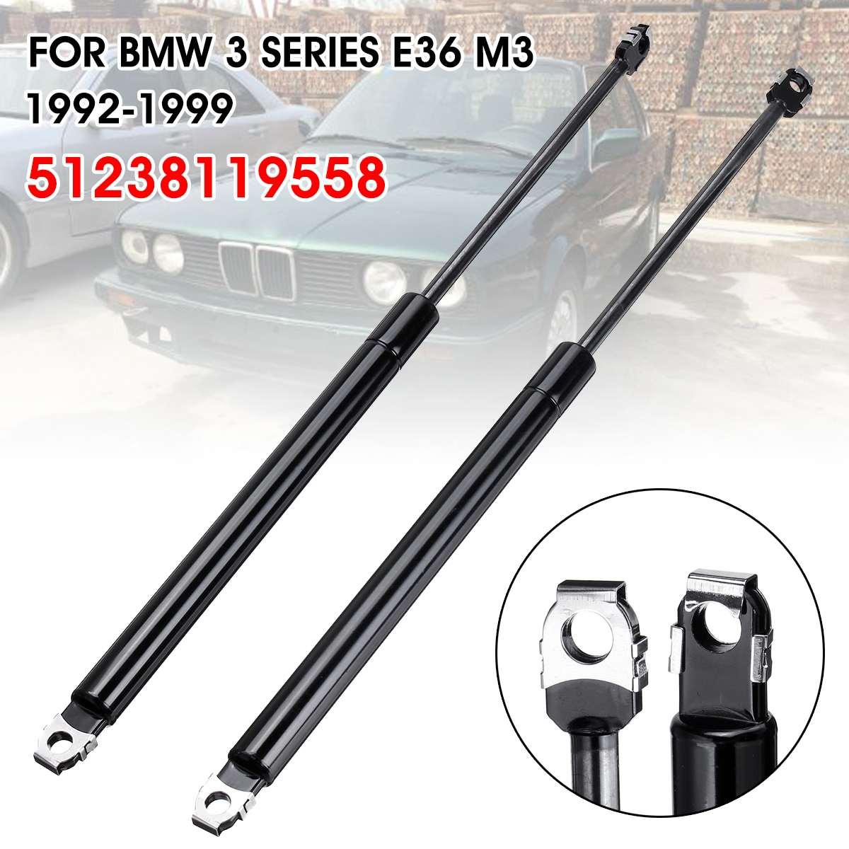 1 paire de Supports de levage de capot de moteur avant de voiture bras de tige ressorts à gaz amortisseurs pour BMW E36 316i 318i 323i 325i 328i M3 51238119558