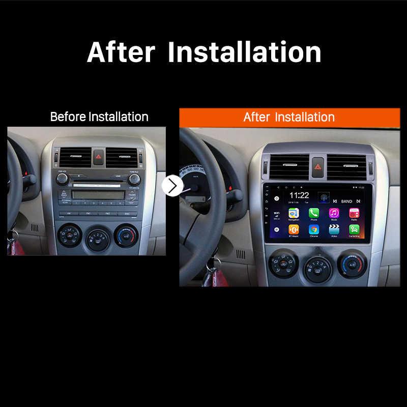 アンドロイド 8.1 2 喧騒車のラジオ無線 Lan Bluetooth 4 コアマルチメディアプレーヤー Gps ナビゲーショントヨタカローラ 2008 2009 2010 2011 2012