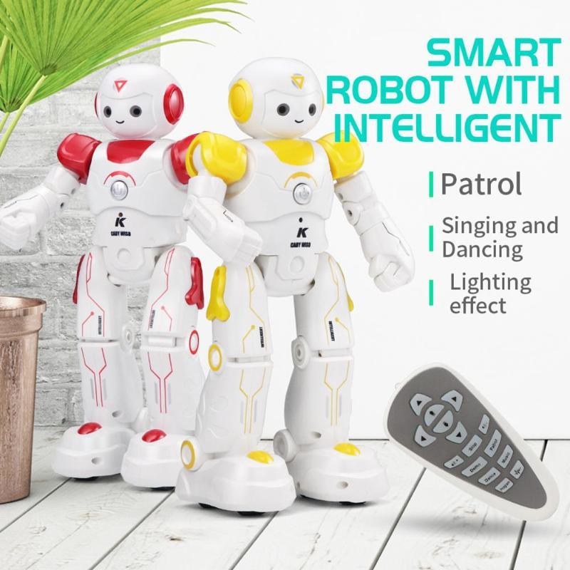 En stock JJRC R11 JJRC R12 USB contrôle de Charge gestes danse Robot télécommande jouet bleu rose cadeau d'anniversaire pour les enfants