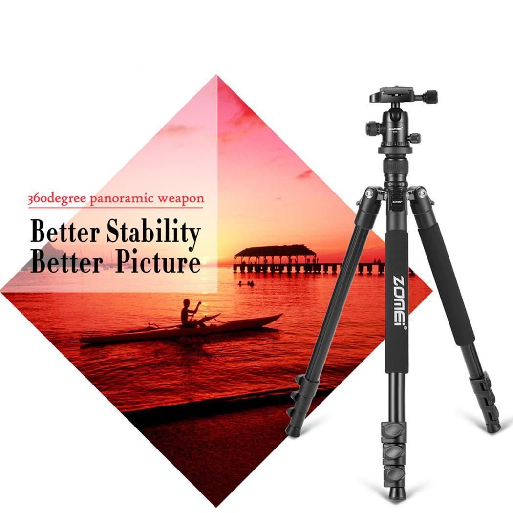 Flexible Foldable Tripod Camera Stand Mount Phone Flexible GoPro Accessories 6 10kg Black Zomei Q666 Professional Tripod