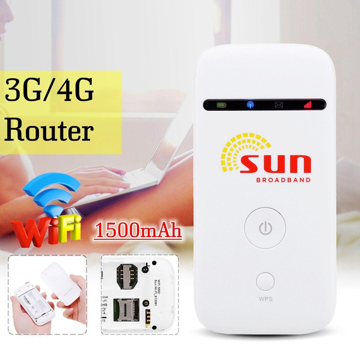 Unlockeds MF65 150Mbps 3G/4G Wireless Router 3G UMTS 21M Mobile Pockets WIFI Broadband 3G SIM Card Mifi Router цена в Москве и Питере