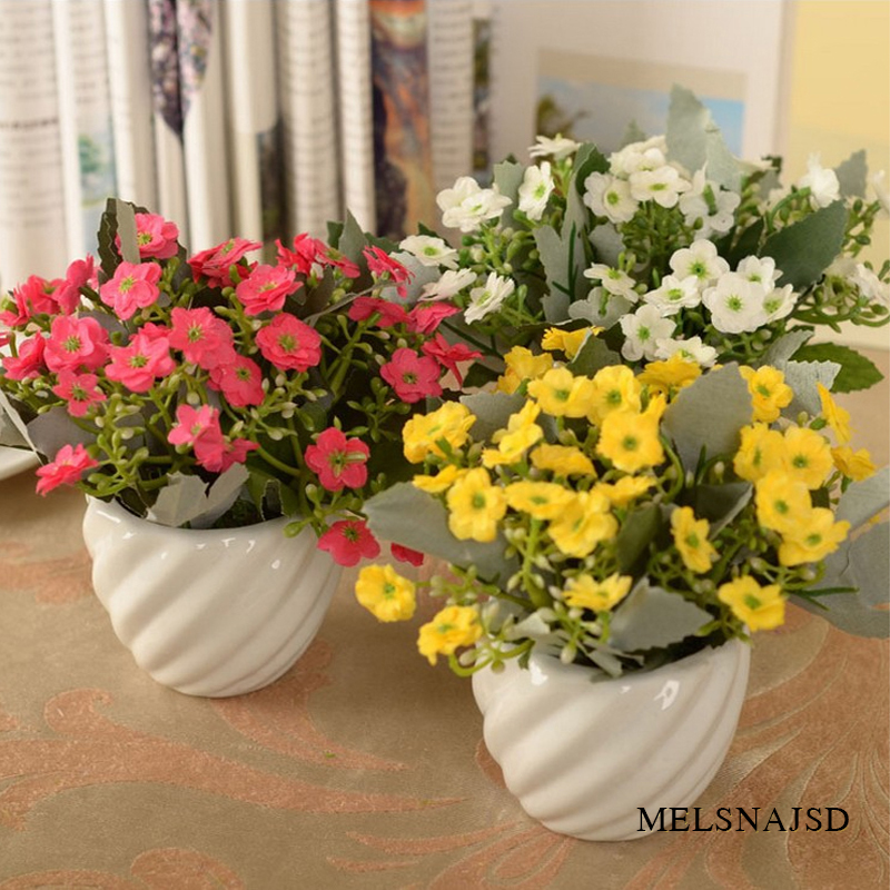 melsnajsd 6 fork / bouquet Xiaolei Milan flower artificial silk wedding home Christmas decoration orchid