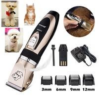 Baorun Rechargeable Pet Cat Dog Hair Trimmer Electrical Low noise Pet Hair Clipper Grooming Shaver Cut Machine Set Pets