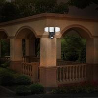 Головок двор 3 лампы наружного освещения сада отдых 7 наружной стены Сенсор светодио дный 4 В IP65 Солнечный свет Водонепроницаемый