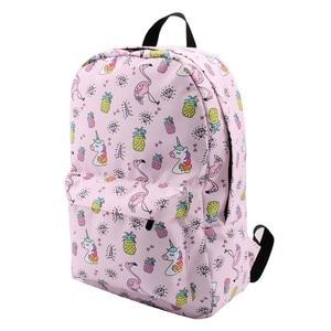 Image 2 - Deanfun mochila para meninas unicórnio à prova de água flamingo diamante padrão mochilas saco escolar adolescente 80043