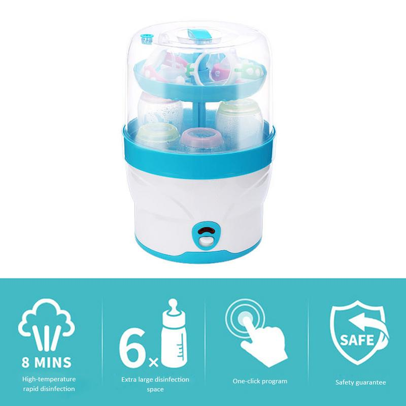 2 Layers Baby Bottle Sterilizer No Chemical Steam Nursing Bottle Sterilization Dry Device Portable Baby Health