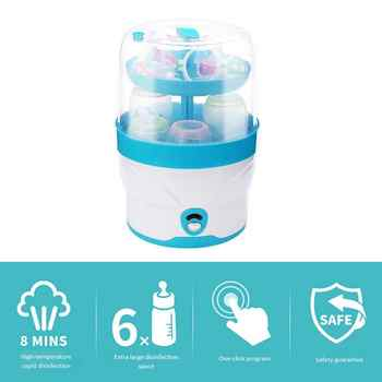 2 Layers Baby Bottle Sterilizer No Chemical Steam Nursing Bottle Sterilization Dry Device Portable Baby Health Disinfectio Tool - DISCOUNT ITEM  40% OFF All Category