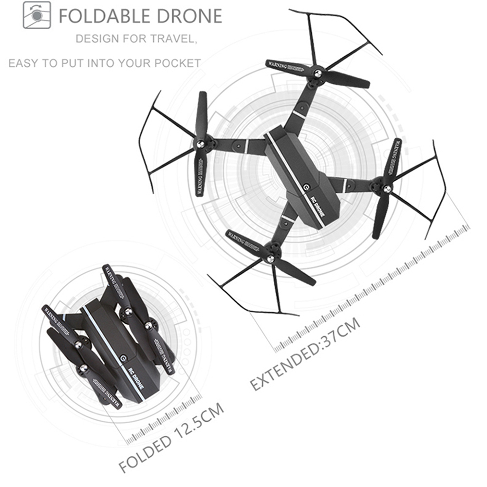 8807W 8807 Elfie Drone MiNi Foldable Selfie Drone with HD Camera Drones WiFi FPV Quadcopter RC Helicopter visuo Xs809hw x101hw in RC Helicopters from Toys Hobbies