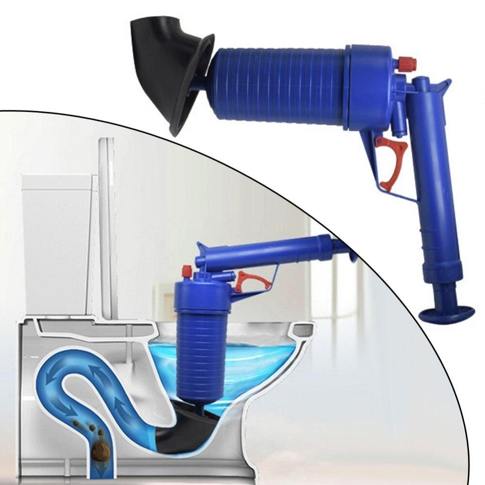 Freies Porto Hochdruck Pumpe Reiniger Dredge Toilette Kolben Air Drain Blaster Waschbecken Rohr Verstopfte Entferner Bad Rohr Badewanne Haushaltschemikalien Abflussreiniger
