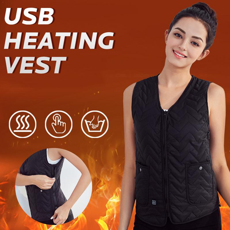 Women Vest Heated Outdoor Electric Thermal Waistcoat Clothing For USB Infrared Heating Vest Jacket 2018 Hot Products