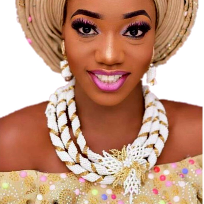 Dudo bijoux Costume africain bijoux ensemble blanc et or perles ensemble Dubai mariée bijoux ensembles livraison gratuite filles bijoux ensemble