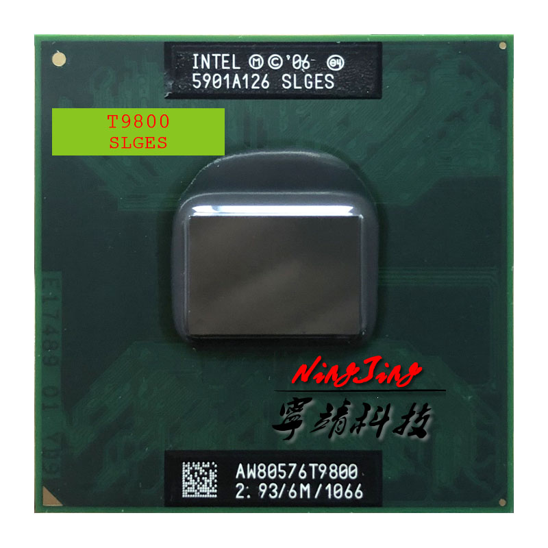 Intel Core 2 Duo T9800 SLGES 2.9 GHz Dual-Core Dual-Thread CPU Processor 6M 35W Socket P