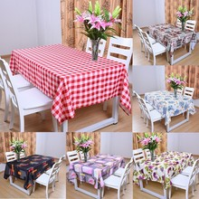 Waterproof Modern Square Lattice Small Fresh Nordic Pastoral Style Tea Rectangular Table Cloth