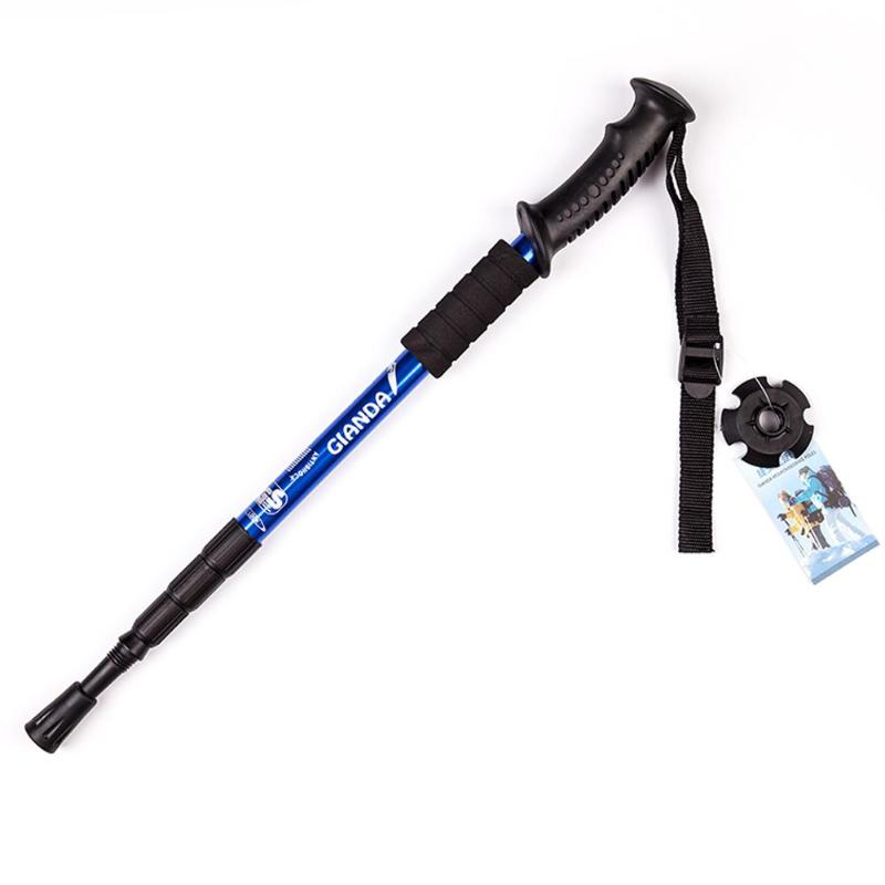 Anti Shock Nordic Walking Stick Telescopic Trekking Hiking Pole Ultralight Walking Cane with Rubber Tips Protectors Z55