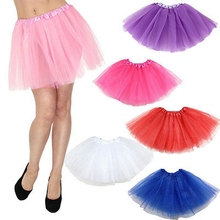 aa635391a THEFOUND Hot Kid Girls Solid Dance wear Party Costume Multicolor Tulle Tutu  Skirt Princess Skirt(