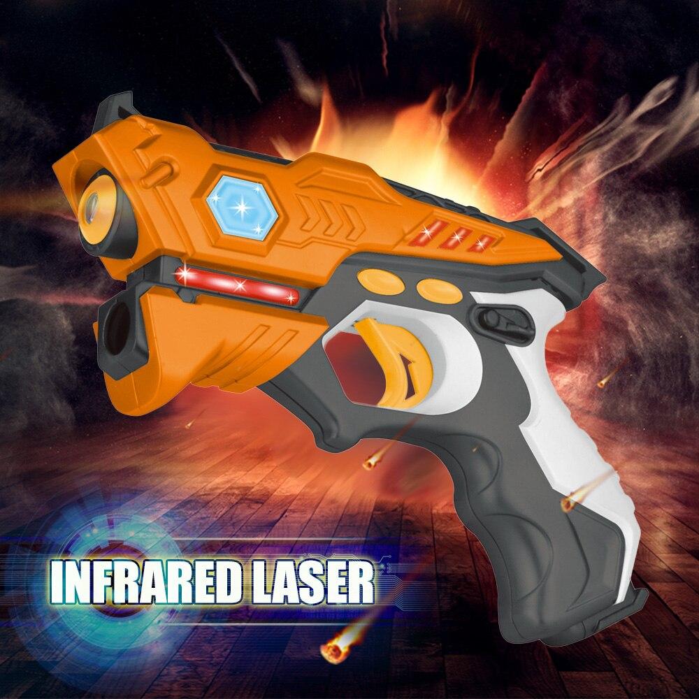 4 Pcs/lot Infrarouge Laser Tag Blaster Laser Bataille Pack Intérieur et Extérieur Activité Familiale jouets pour Enfants Adultes drop Shipping - 2